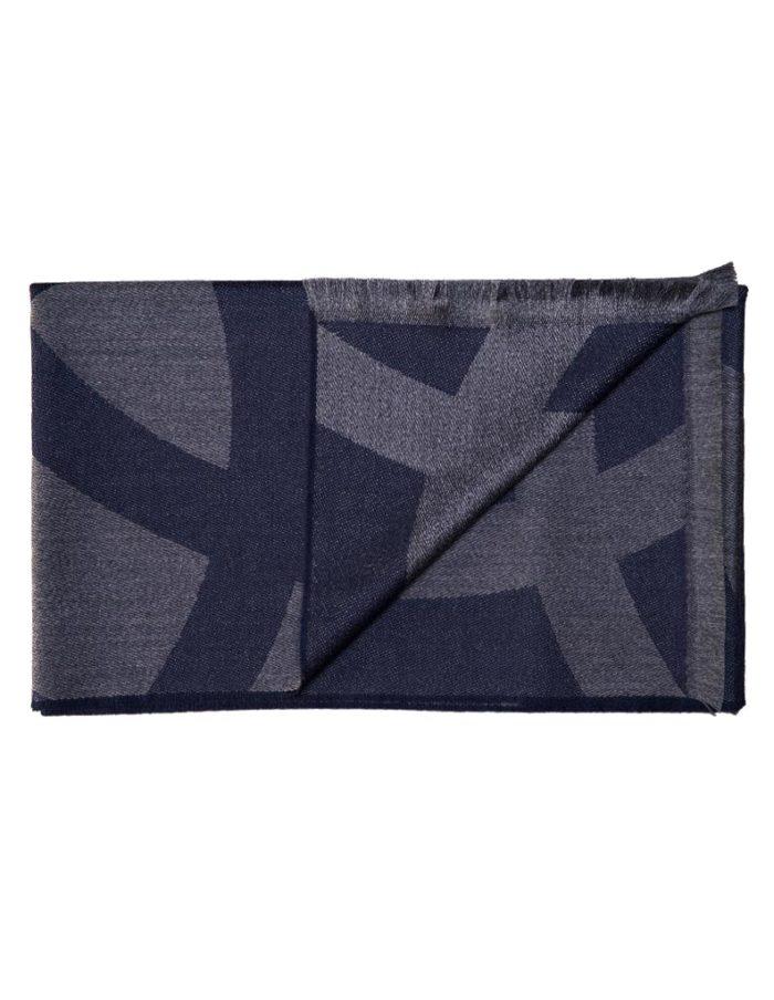 Men's Navy Virgin Wool Scarf