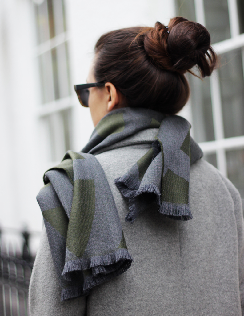 women winter grey scarf