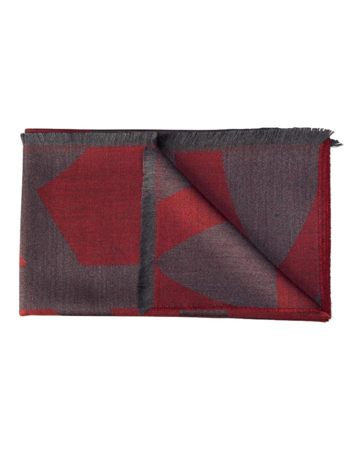women's Red Wool Scarf