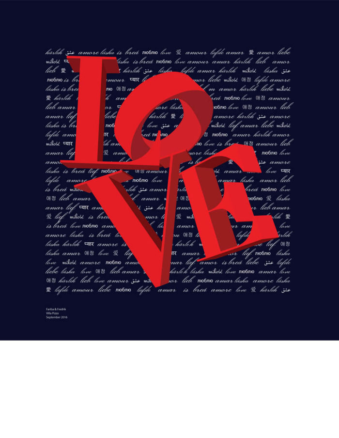 love scarf - graphic scarf