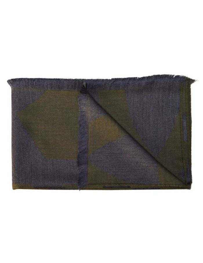 women's Green grey Virgin Wool Scarf