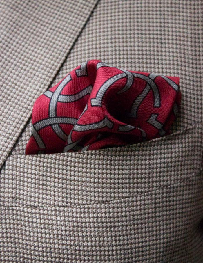 Red silk pocket squares - The Kholeno