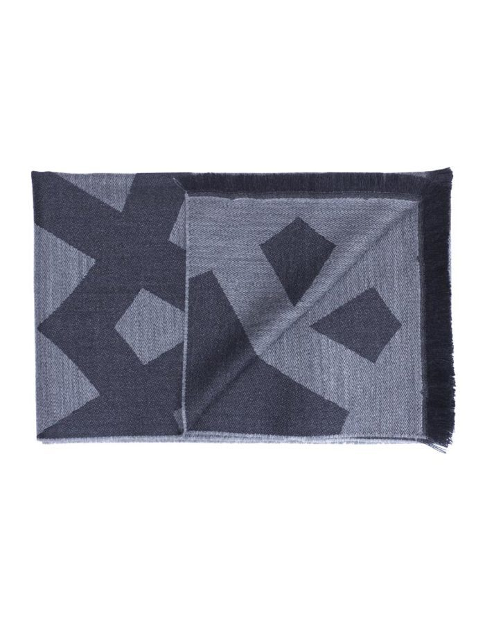 Men's Grey Virgin Wool Scarf