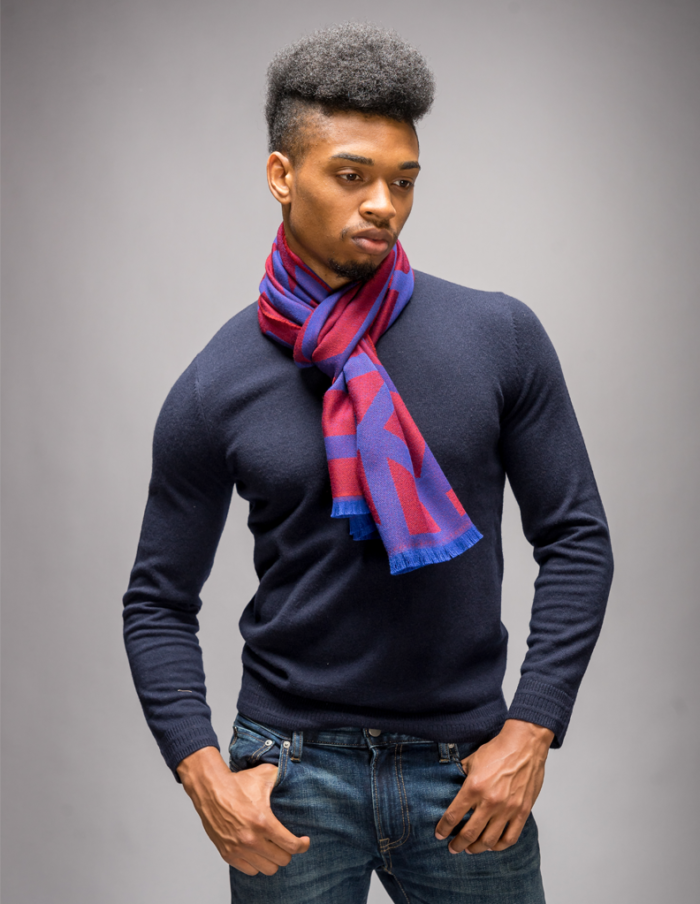 Men's Red Winter Scarf