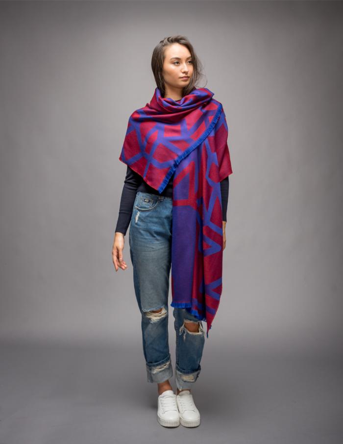 women red winter scarf