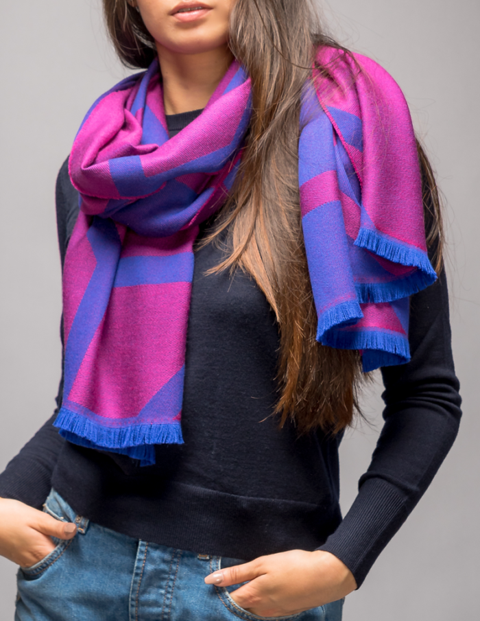 Winter Purple Scarf