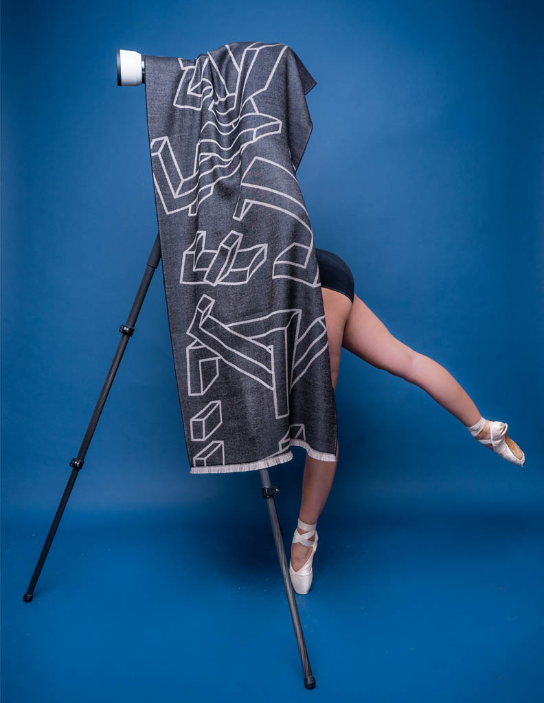 ItalianWomen shaw Black Large Wool Scarf
